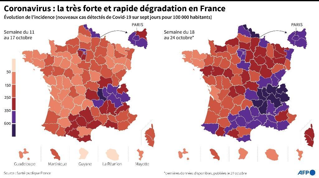 Coronavirus : explosion du nombre de nouveaux cas en France