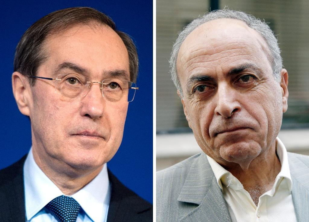 Photo montage datant du 13 février 2020, de Claude Guéant (g) le 17 janvier 2012, et de Ziad Takieddine, le 14 septembre 2011