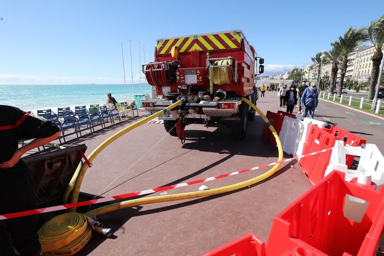 1.000 mètres cubes d'eau ont été évacués de la plage Baieta.
