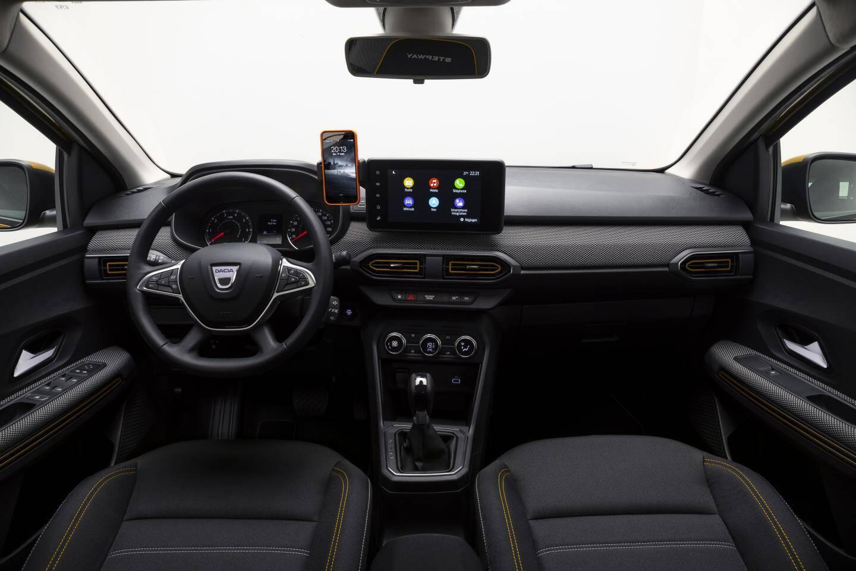 A l'intérieur de la Dacia Sandero Stepway.