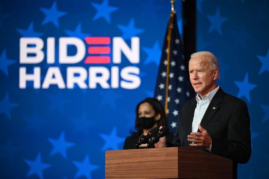 Joe Biden et Kamala Harris à Wilmington, dans le Delaware, le 5 novembre 2020
