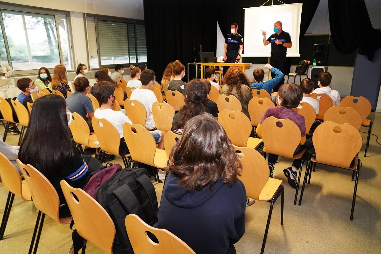 Beaucoup de réactivité de la part des élèves lors de cette session de présentation des « Copains bienveillants ».
