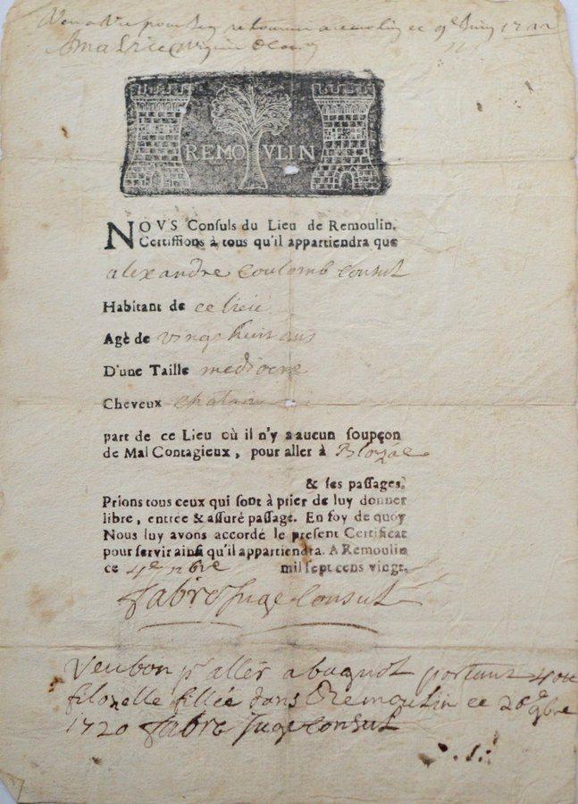 L'attestation de sortie de 1720 devait être respectée à la lettre. Sinon…
