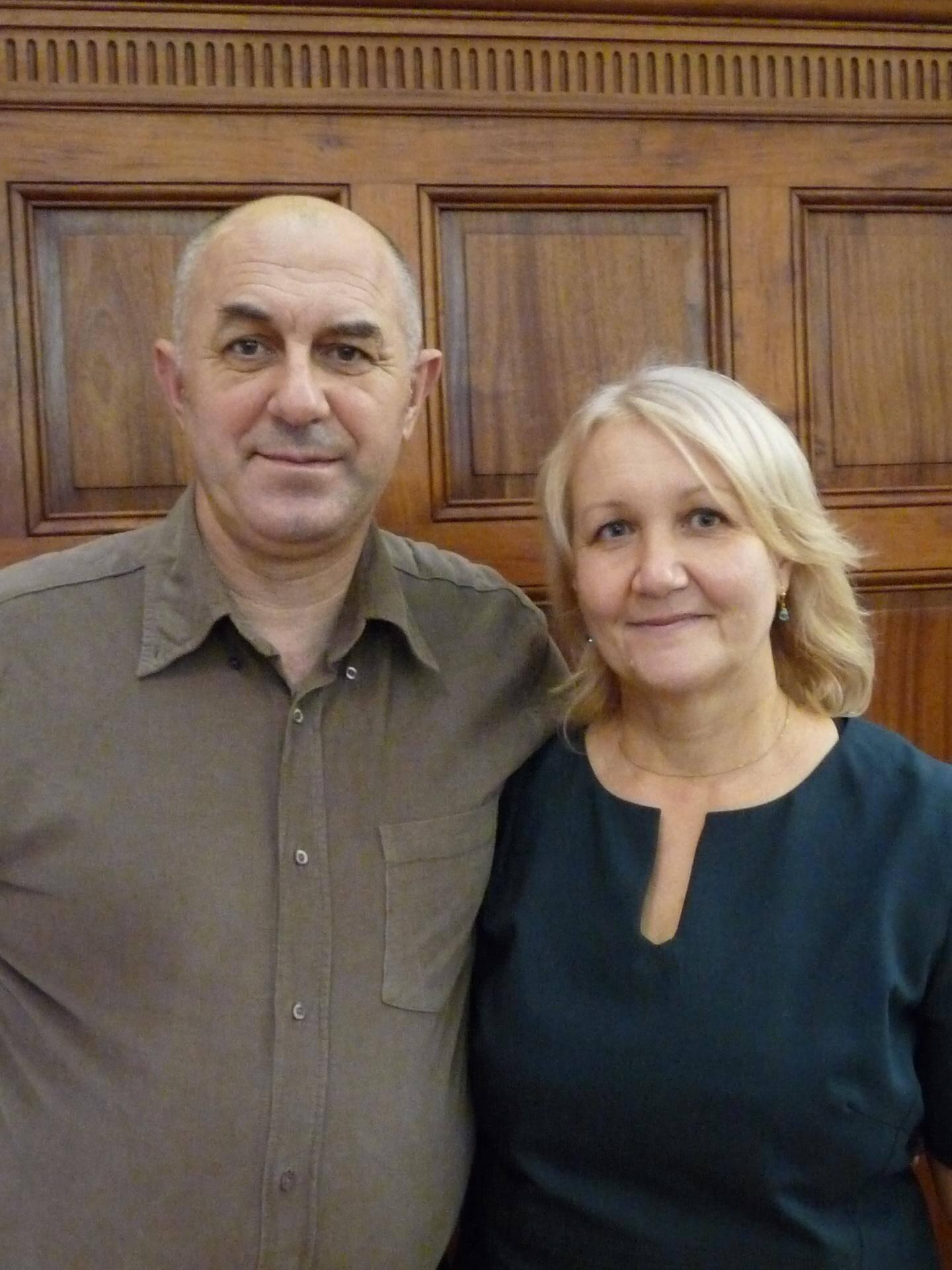 Vasyl Korovyak, chef de chantier, et Svitlana Ishchak, femme au foyer.