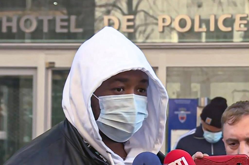 Photo extraite d'une vidéo montrant le producteur de musique Michel Zecler après son dépôt de plainte à l'IGPN contre des policiers qui l'ont passé à tabac, le 26 novembre 2020 à Paris