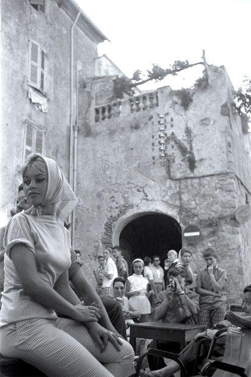 Brigitte Bardot à La Plonche.