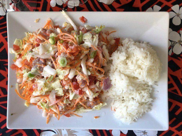 Une salade tahitienne made in Ma'a Tahiti.