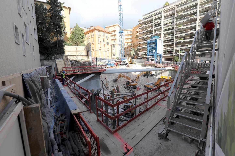 Le chantier du Palais Honoria à Monaco