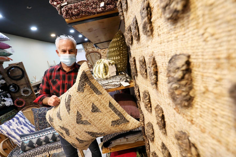 La boutique de décoration et de tapisserie de  Jean-Luc Caruggi.