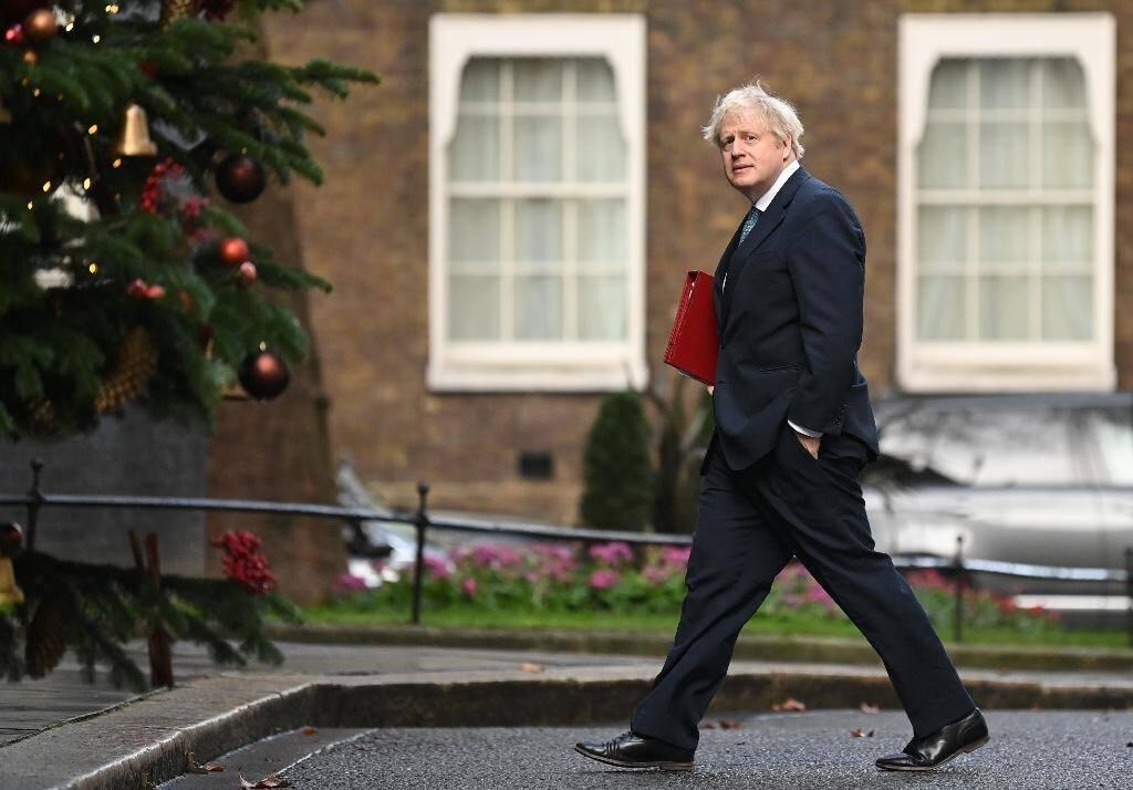 Le Premier ministre britannique Boris Johnson à Londres le 15 décembre 2020