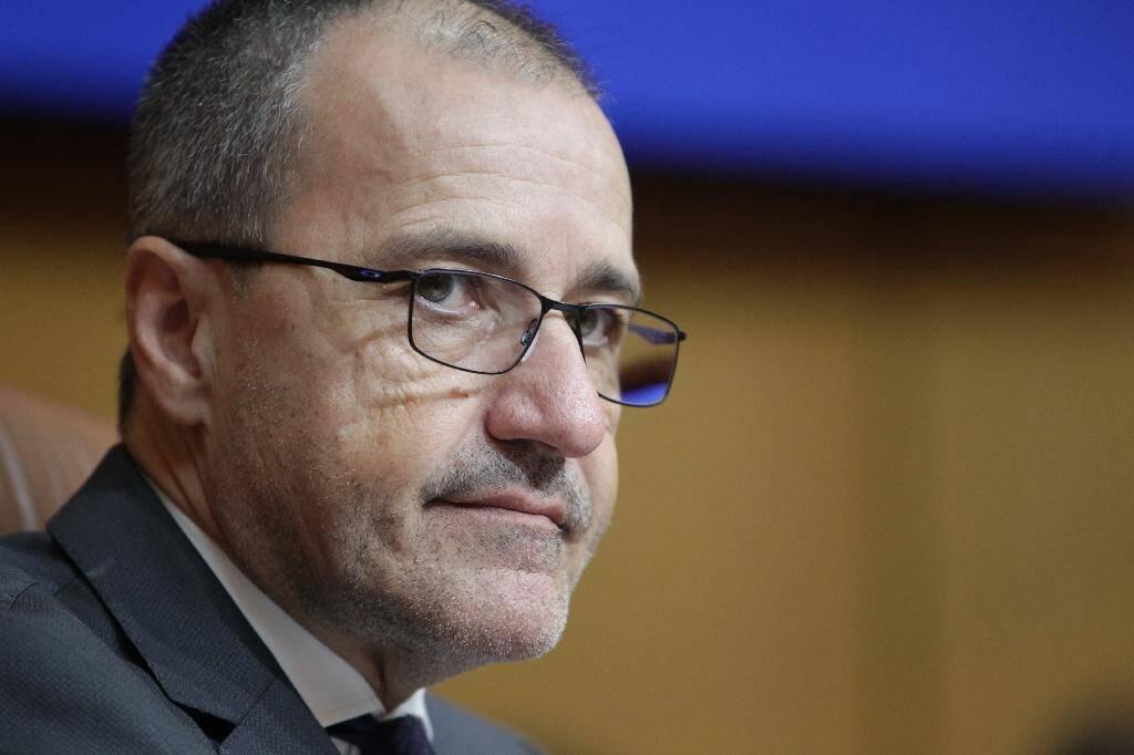 Le président de l'Assemblée de Corse Jean-Guy Talamoni le 2 novembre 2019 à Ajaccio