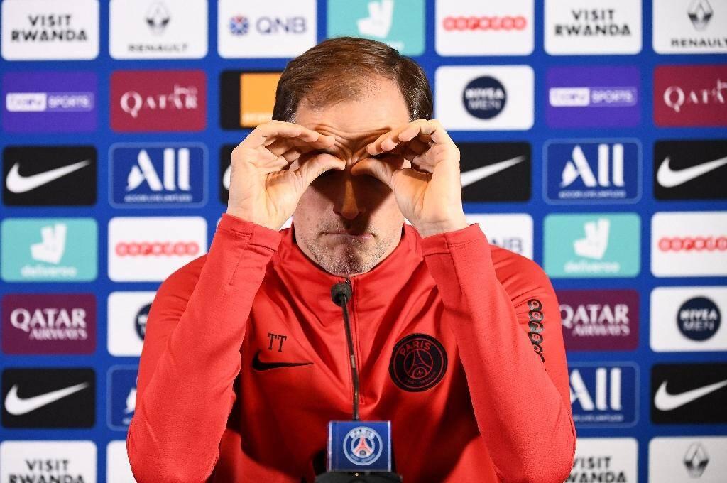 Thomas Tuchel, alors entraîneur du PSG, en conférence de presse le 3 mars 2020 à Saint-Germain-en-Laye