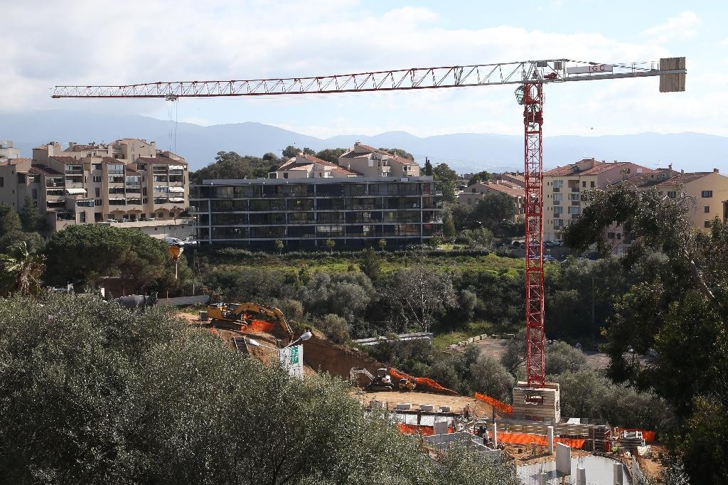 Un chantier de construction à Ajaccio, en février 2020, en Corse