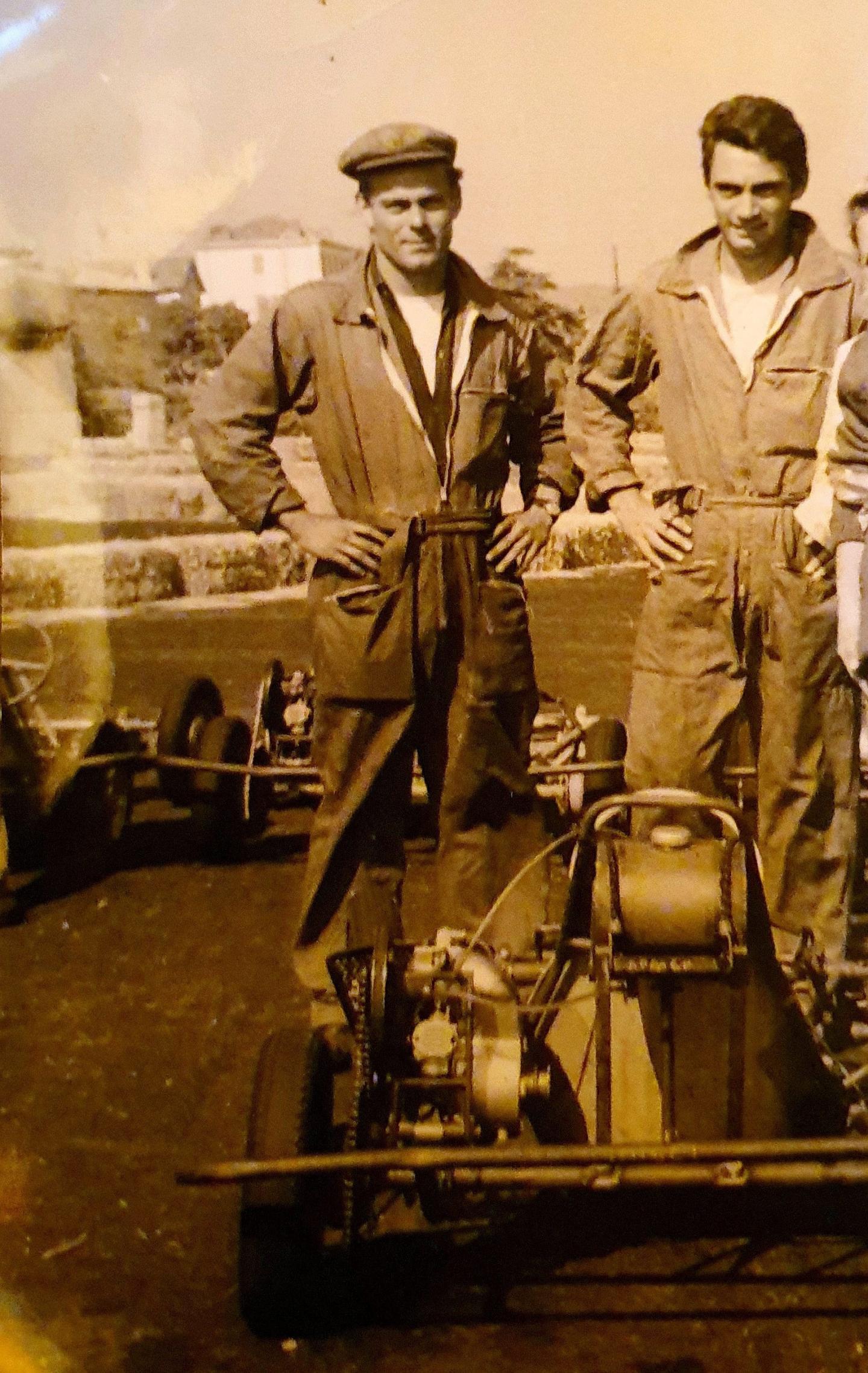 Jean-Claude dit « Coco » (avec sa casquette) développa le premier karting de la toute région Paca dans les années 1960.