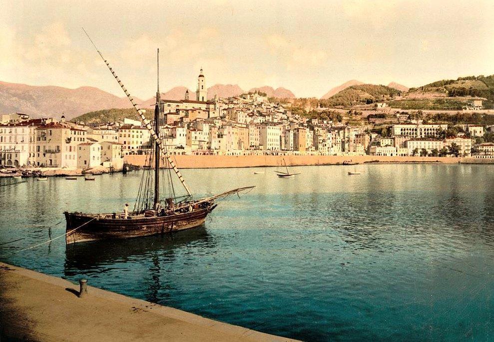 Le port d'antan.                       (Doc archives Nice-Matin)