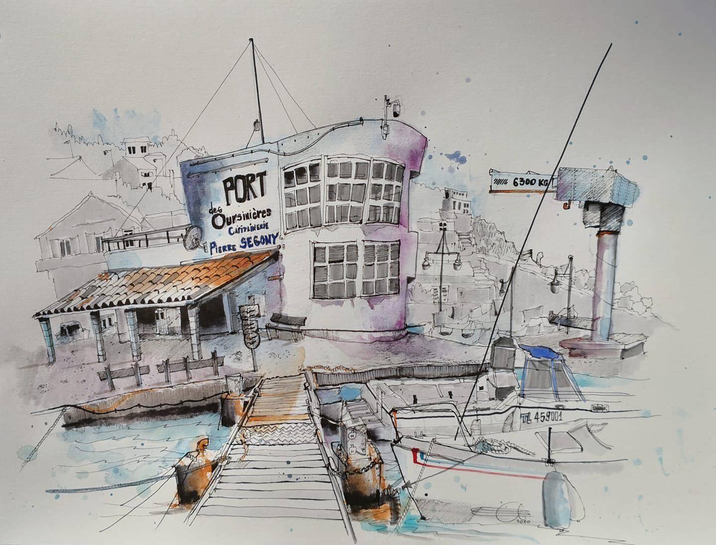 Le port des Oursinières.