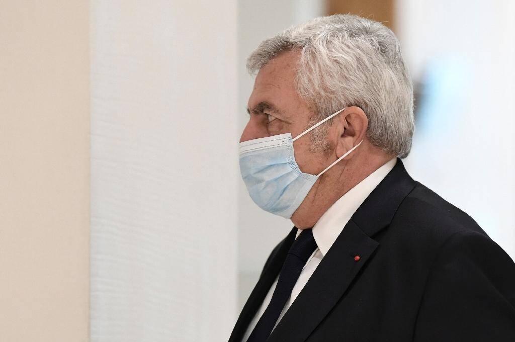 Me Thierry Herzog, avocat historique de NicolasSarkozy, également poursuivi pour corruption, trafic d'influence et violation du secret professionne, le 26 novembre 2020 à Paris