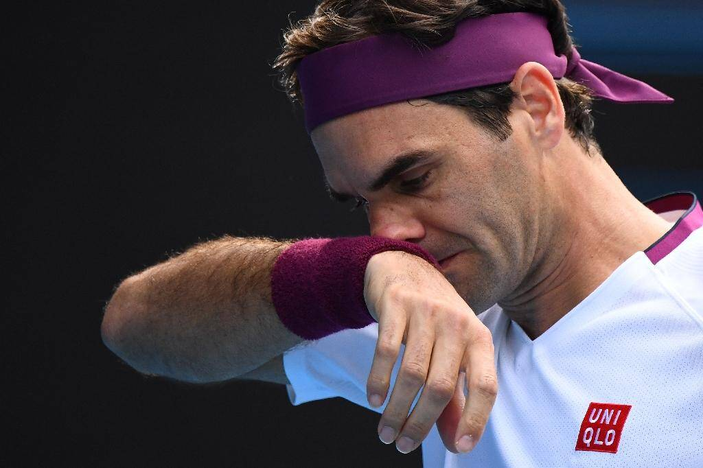 Roger Federer lors d'un match de quart de finale à l'Open d'Australie à Melbourne, le 28 janvier 2020