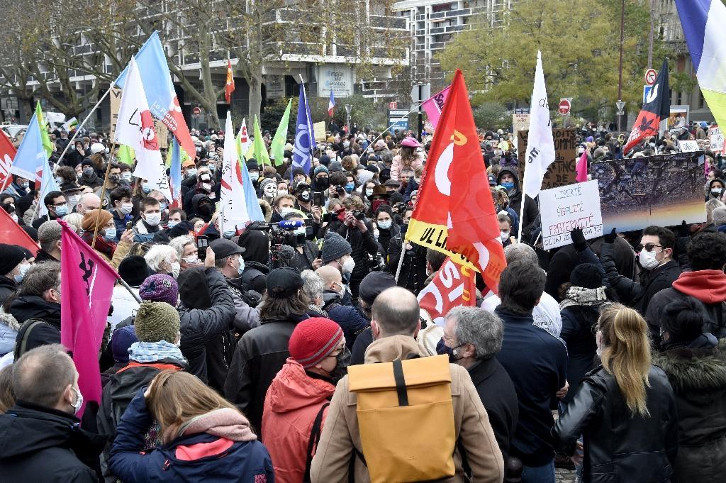 Manifestation contre le texte de loi sécurité globale le 5 décembre 2020 à Paris