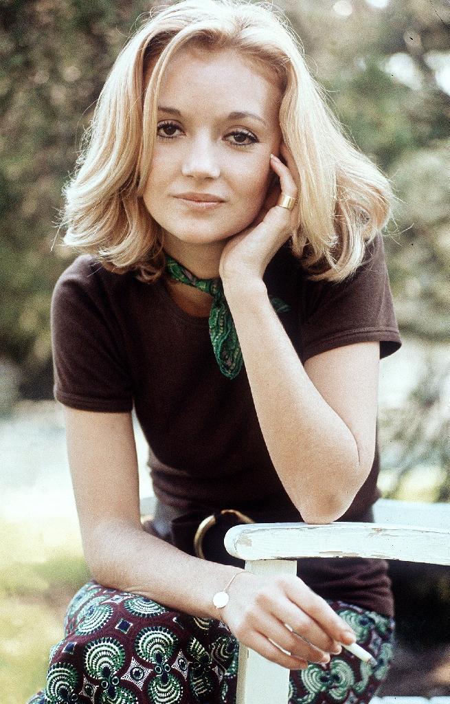 L'actrice Caroline Cellier lors d'une séance photo à Paris le 1er mai 1970