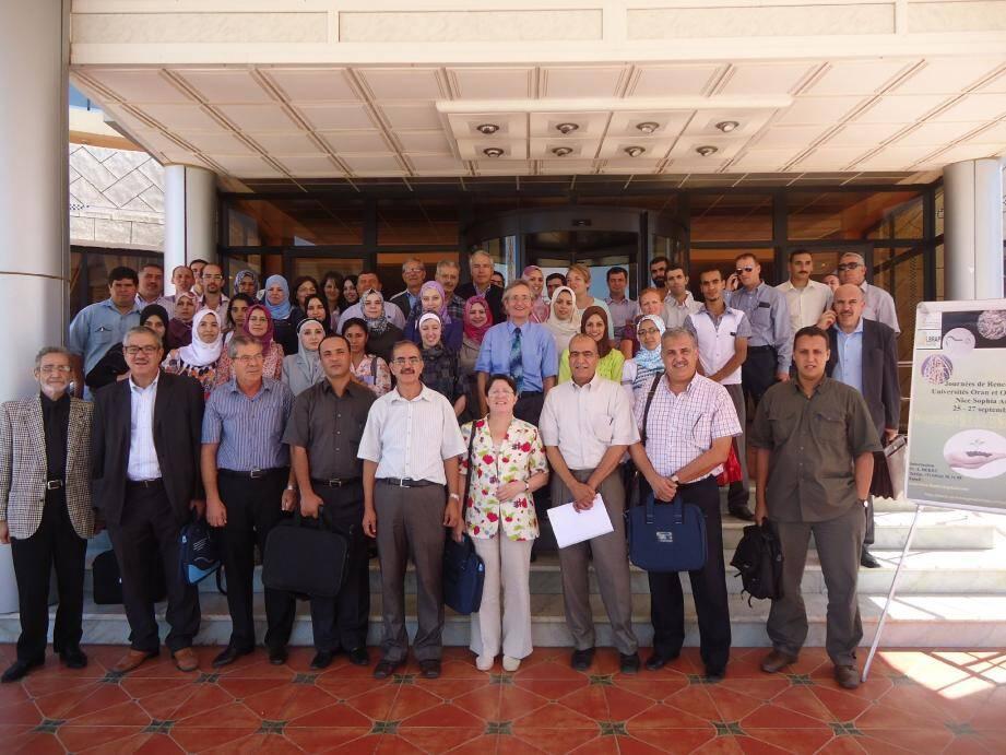 La délégation sophipolotaine a été accueillie avec les honneurs à l'université Es Senia d'Oran par une centaine de scientifiques algériens, ravis des nouvelles perspectives de collaboration.(Photo DR)