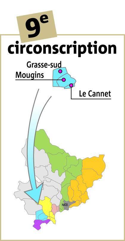 La 9e circonscription des Alpes-Maritimes.