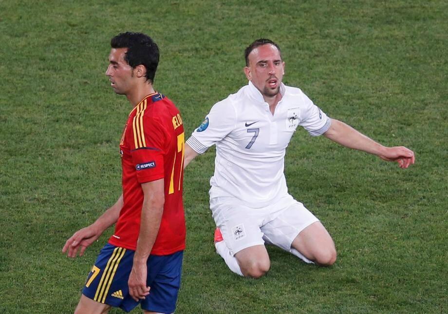 Malgré son activité, Ribéry n'a rien pu faire. Arbeloa est les Espagnols n'ont pas eu à forcer leur talent pour éliminer la France.