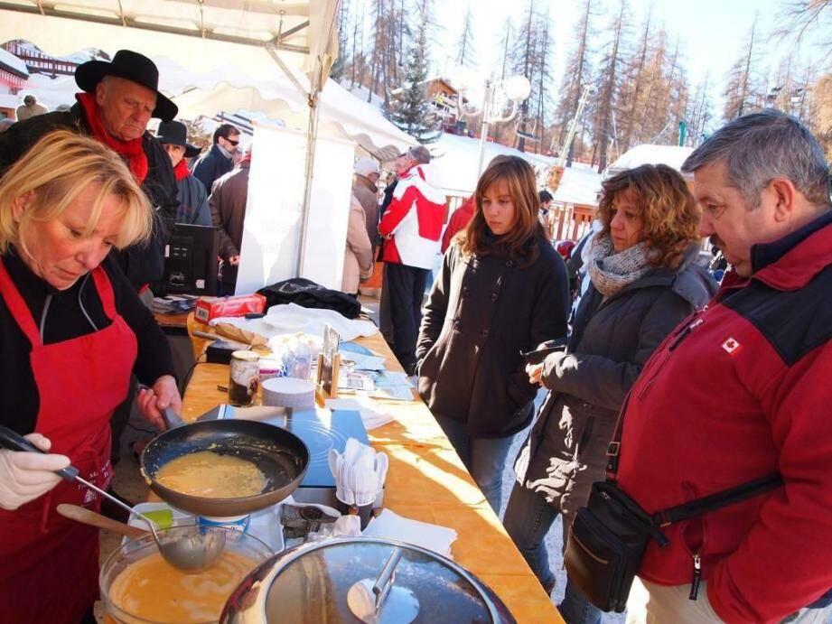 Ils étaient nombreux à vouloir déguster les plats à base de truffes préparés par Monique Maunier.