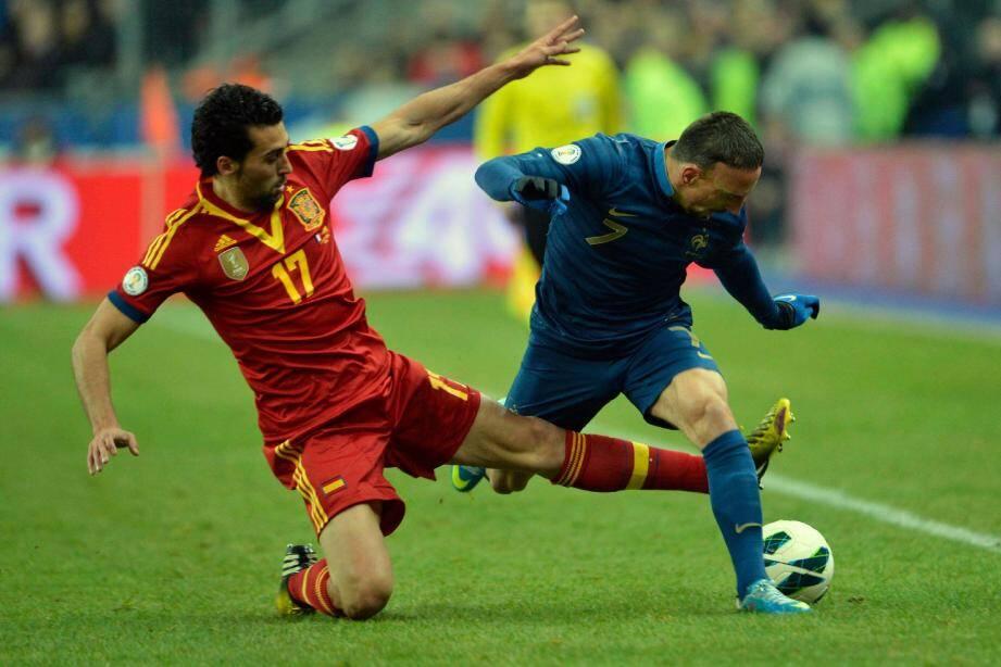 Arbeloa et les Espagnols ont coupé la route aux Bleus de Ribéry...