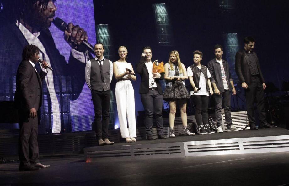 Dominique, Nuno, Dièse, Olympe, Louane, Loïs et le gagnant de The Voice, Yoann Fréget étaient au Nikaïa ce mercredi soir devant 4.000 fans