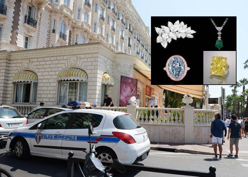 Quatre des bijoux volés au Carlton à Cannes