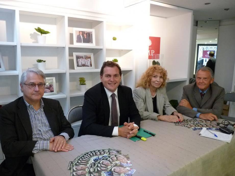 Philippe Tabarot était entouré de trois de ses actuels colistiers.