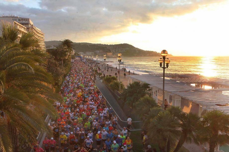 Le marathon Nice-Cannes en 2012 à Nice.