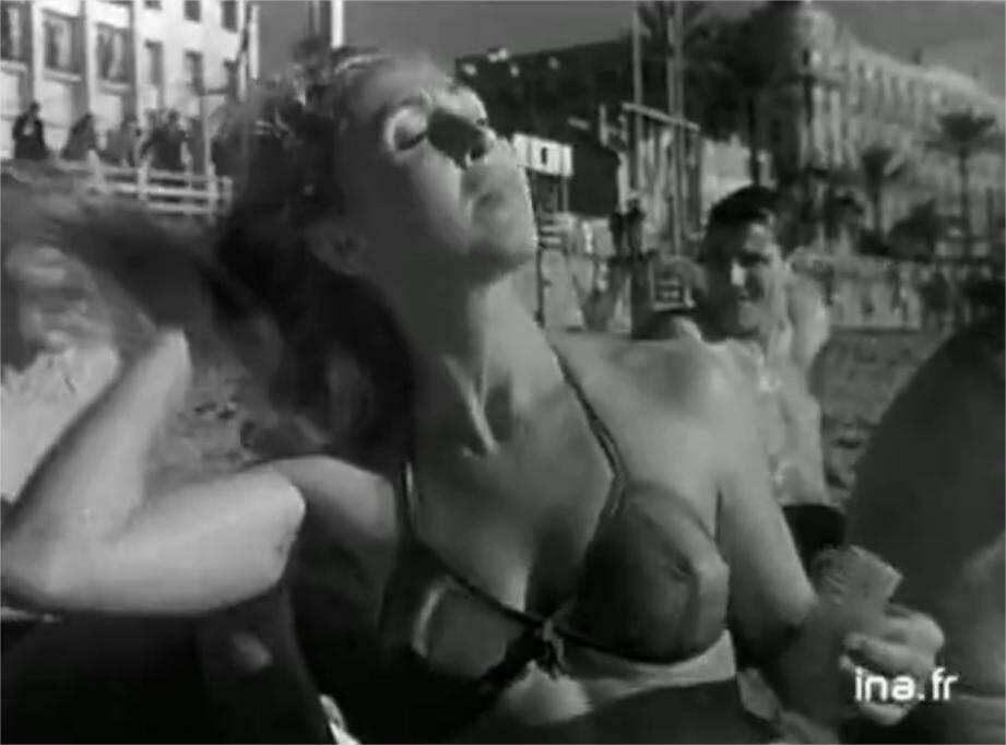 Bain du nouvel an 1951 à Cannes