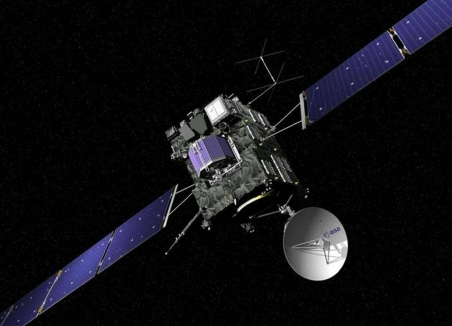 On n'avait encore jamais observé une comète d'aussi près ni envoyé à sa surface un instrument spatial. C'est désormais chose faite grâce à la sonde européenne Rosetta.(Doc Esa)