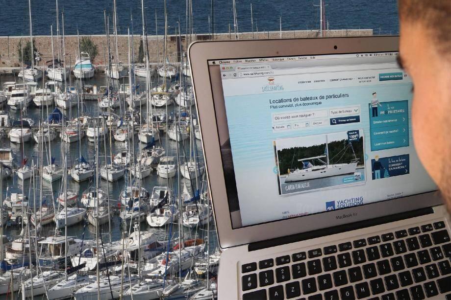 Avec en moyenne 5 à 12 jours de navigation par an, les bateaux de plaisance sont sous-utilisés en France. D'où l'idée de proposer à leurs propriétaires de les mettre en location, à l'image de ce qui se fait déjà dans l'immobilier et l'automobile.(Photomontage P. Bl.)