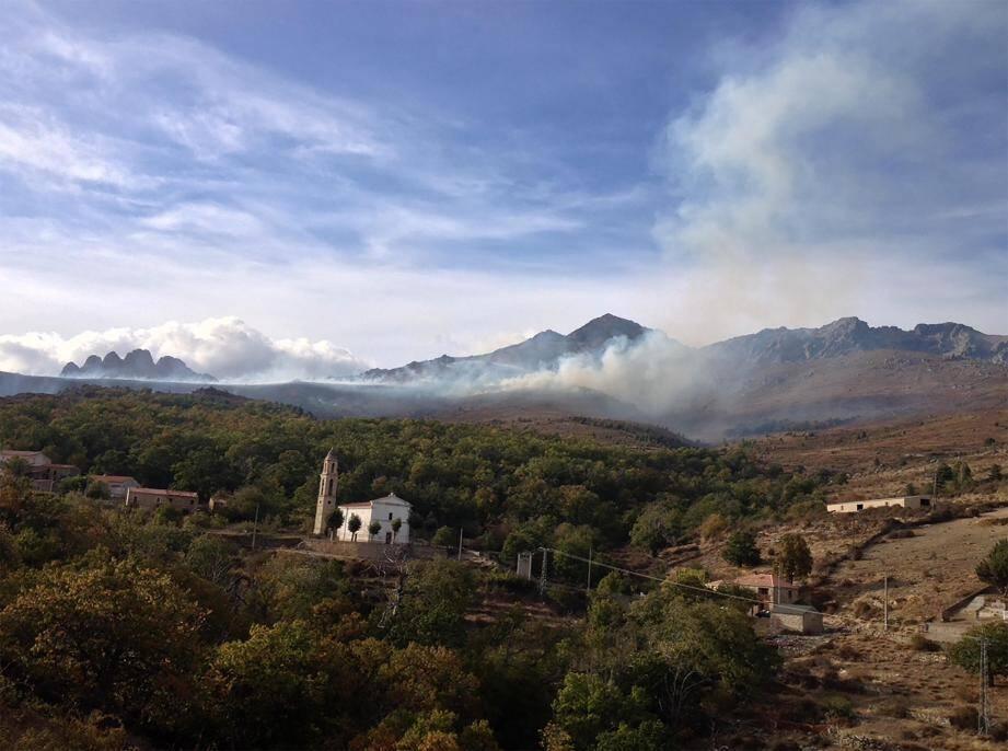 Un incendie a parcouru environ 500 à 600 hectares dans le Niolu, le plus gros incendie de la saison.