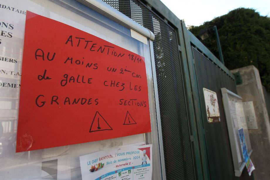 Face aux cinq cas de gale diagnostiqués à la maternelle Las Planas, la Ville a déployé les grands moyens. Avec salle de classe désinfectée hier et grand nettoyage prévu aujourd'hui.