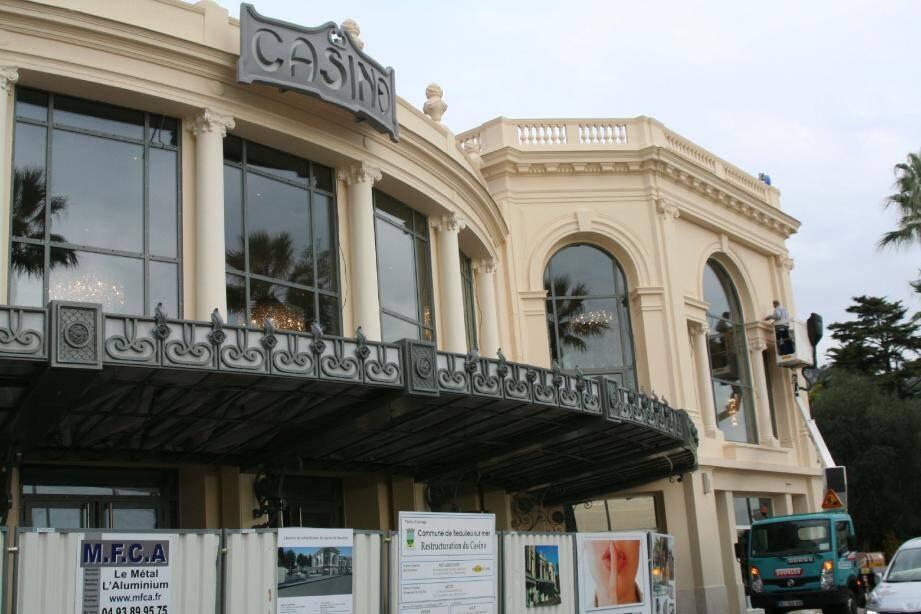 Le casino vit les dernières phases de travaux.