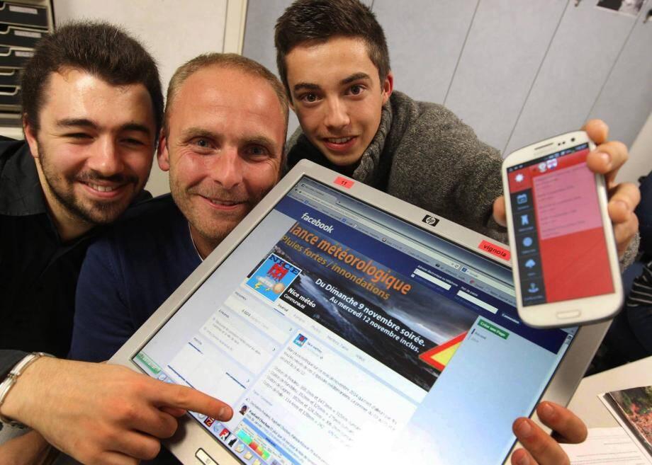 Matthieu, Anthony et Tristan, passionnés de météo et de photo, se servent des réseaux sociaux pour partager leurs infos et leurs clichés. Ils ont créé une page Facebook et une appli, suivies par plusieurs milliers de personnes.