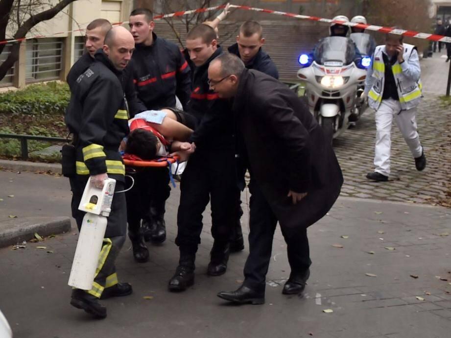 Charlie Hebdo blessé