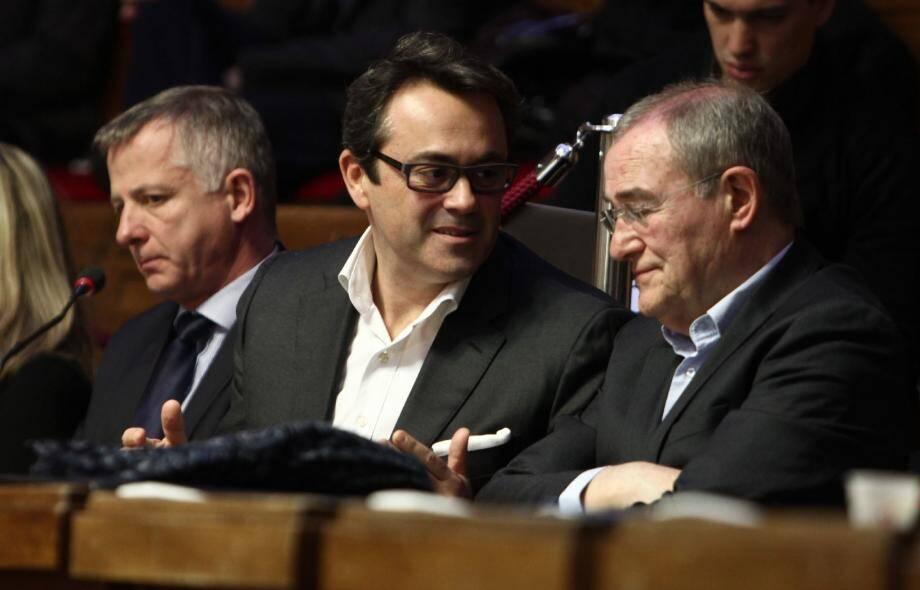 Benoit Kandel, Olivier Bettati et Henri Revel siégeaient pour la première fois ensemble au conseil métropolitain, vendredi.