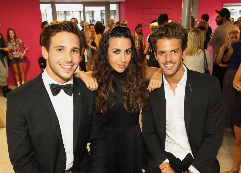 Damien Lauretta, Maude, et Florent Torres... tous issus de la Diamond School de Cannes-la-Bocca