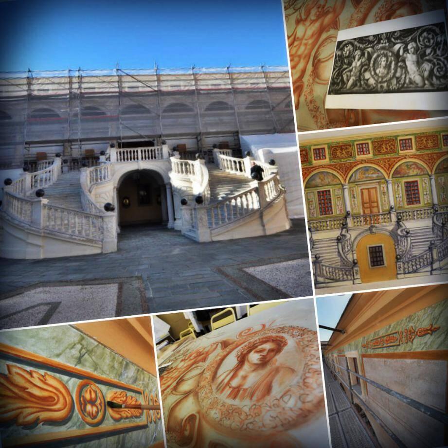 Les fresques du Palais princier bientôt remises à l'identique