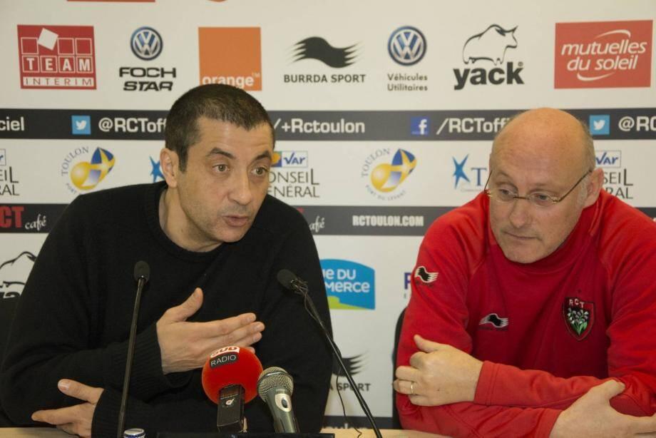 """Boudjellal et Laporte commentent le livre """"rugby à charges"""""""