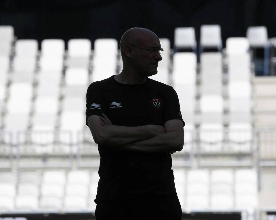 Le manager, Bernard Laporte, ne rougit pas de la saison réalisée par le RCT, en dépit de l'élimination en demie du Top 14. Il est prêt à rebondir pour son ultime baroud à la tête du club. (Photo L. Boutria et P. Blanchard)