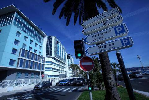 L'hôpital Lenval à Nice.