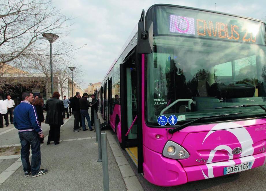 Un bus du réseau Envibus / Illustration