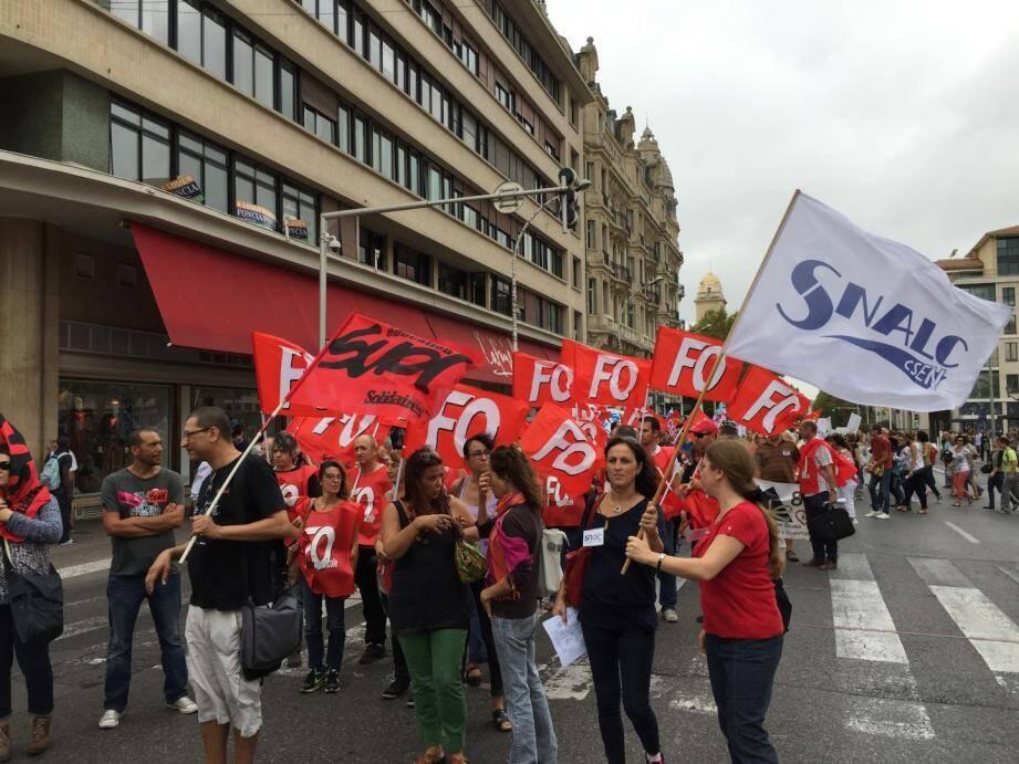 Une manifestation d'enseignants à Toulon