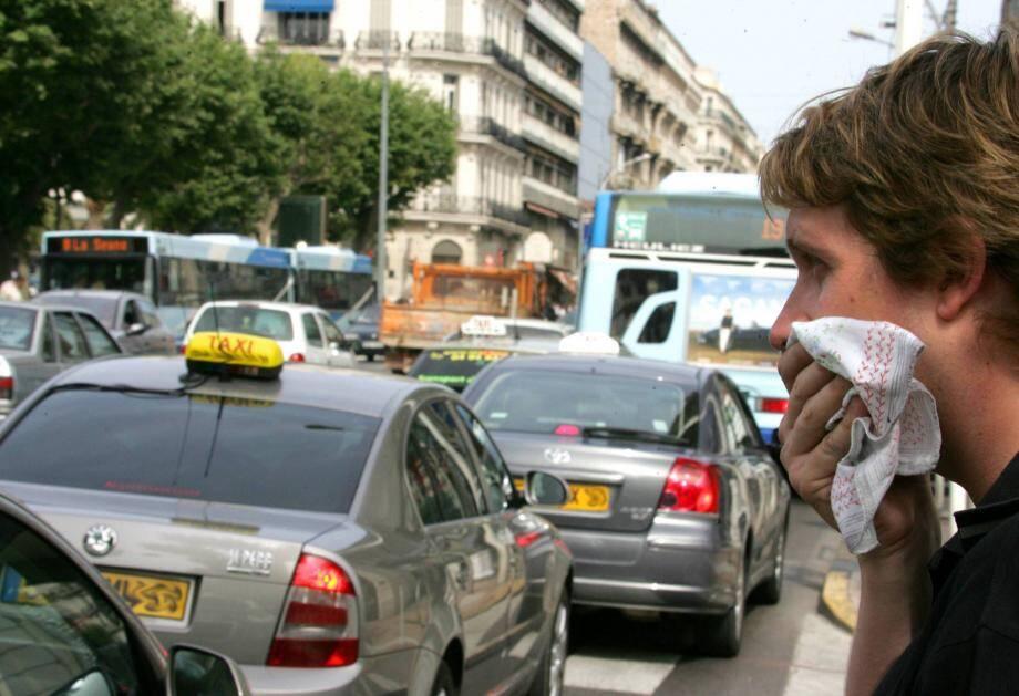 Pollution de l'air à Toulon (photo d'illustration)